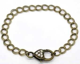 Double bracelets mesh bronze