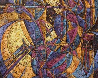 Original Abstract Painting on canvas  Large format, Oil painting  Aleksei Kravchenko, Avant Garde Painting