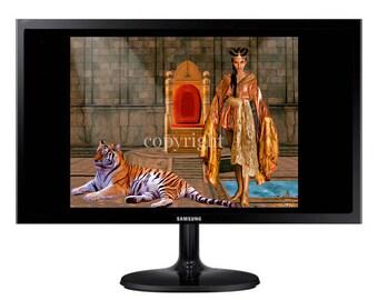 La Reine Perse fond d'écran pour ipod ou ordinateur création unique sur le thème féerique.