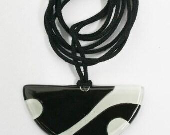 Black Glass pendant