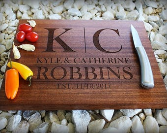 Personalized Cutting Board, Christmas Gift, Custom Name, Last Name, Wedding Gift, Anniversary, Engagement, Gift For Him, Personalized Womens