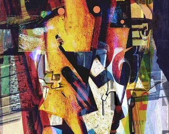 Possibololoties - Free shipping! Abstract digital art - Paper, stretched canvas, Giclee Print