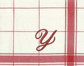 """206 - towel """"torchon"""" paper """"y"""""""
