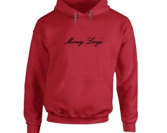 Money Lingo Red Hoodie