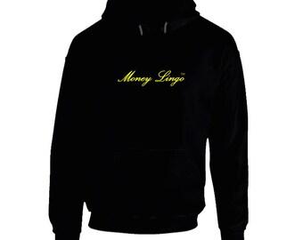 Money Lingo Black Hoodie