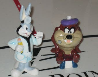 Doc and Taz  salt and pepper set from Looney Tunes