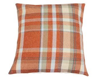 Skye Autumn Checked Tartan Plaid Cushion Cover