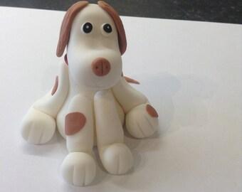 Edible Brown Earred Modelling Paste Fondant Dog Cake Topper