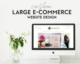 Custom Website Design - Large E-Commerce - Professional Online Store - Mobile Friendly - Responsive Wordpress Website Design