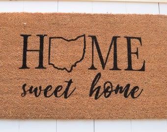 Home Sweet Home Ohio Welcome Mat