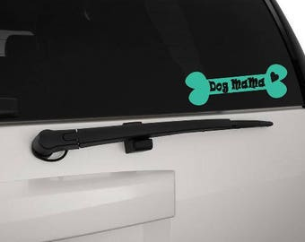 FREE SHIPPING- Dog lover window decal for your car. Dog mama, dog dad, dog grandma and more