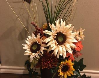 Fall Floral Arrangement Home Decor