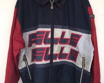 Rare!! Big size Vintage Pelle Pelle by marc buchanan big logo embroide light jacket