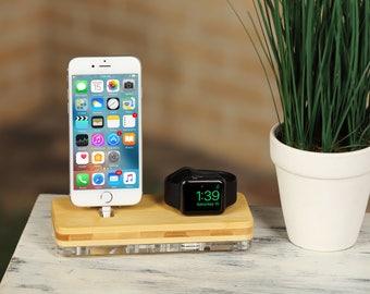 Gift for him, Husband gift, Gift for her, Boyfriend gift, Gift for men, Anniversary gift, Docking station, Apple charging,  iPhone 8