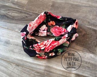 Scarf infinity - baby bib - baby infinity scarf for kids kids neck warmer - neck baby - flowers