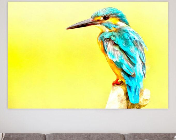 Eisvogel bird, animal, cute, canvas, Interior decor, bird canvas, room design, print poster, art picture, gift
