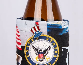 U.S. Navy beer cozy
