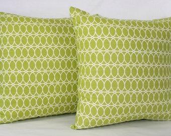 "18 x 18"" Lime Green Mid Century Modern Pillow Cover - Designer Fabric- Accent Pillow - Designer Throw Pillow"