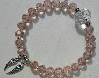 Love - Archangel Chamuel Energised Crystal Bracelet for Love, Soulmate, Romance, Harmonious Relationships, Inner Child Healing