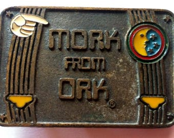 Rare 1979 Mork and Mindy - Mork from Ork Belt Buckle - Lee Jeans Co. - Paramount Pictures - Robin Williams