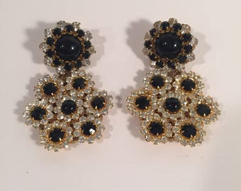 Signed Miriam Haskell brooch and earring set