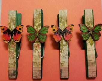 Decorative Clothespin Magnets