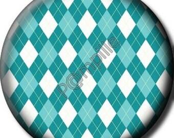Cabochon 25 mm - marine diamonds (724) epoxy resin