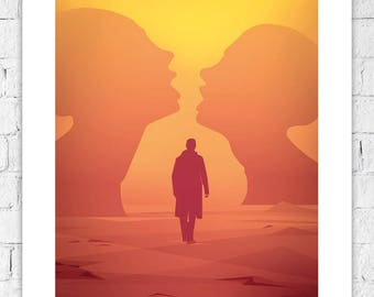 "Blade Runner 2049 ""DESERT"" • Denis Villeneuve / Ridley Scott •  2017 • Vector Art print picture A4 A3 unique film movie poster not framed"