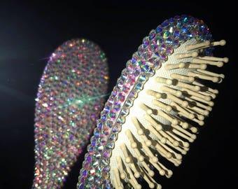 Bling hair brush, sparkle hair brush,rhinestone hair brush, crystal hair brush, princess hair brush, glitter hair brush, holograph hairbrush