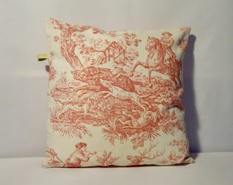 Deco French Toile de Jouy cushion