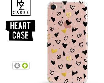 Heart Phone Case, Love Case, iPhone 7 Case, Valentine's Day, Heart, Phone Case Unique, iphone 6, Gift for Her, iPhone 6s, Samsung Galaxy S7