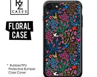 Floral Phone Case, iPhone 7 Case, Flower Phone Case, iPhone 6s Case, Floral iPhone Case, iPhone 5 Case,Rubber Case, Bumper Case