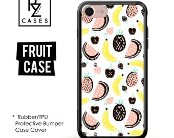 Fruit Phone Case, Watermelon Phone Case, Pineapple Case, iPhone 7, Gift for Her, iPhone 7 Plus, iPhone 6S, Rubber Case, Bumper Case