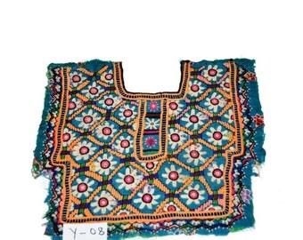 Beautiful  Vintage Banjara Neck Yoke Fine Embroidery Work Neck Yoke #08