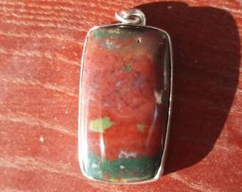 Bloodstone pendant - impressive size