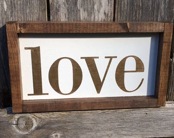 HELLO, simply love and/or love wood signs