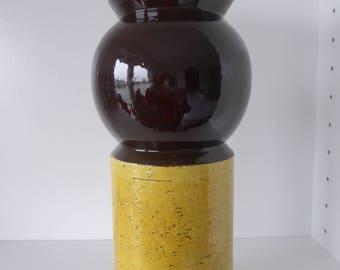 Rare Bitossi Aldo Londi Cylinder Vase with Formnumber 422, Italy 1960.