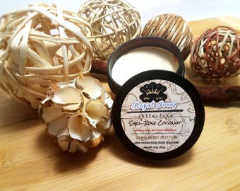 Shea-Rose Coconut Body Butter/gifts for her/skincare/shea butter/moisturizer/spa day/essential oils/dry skin