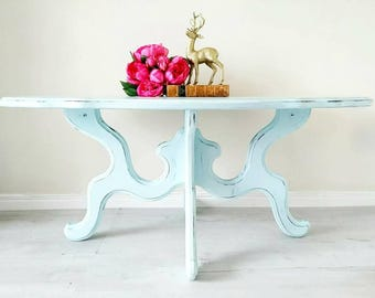 SOLD SOLD SOLD Blue coffee table, vintage table, shabby chic table, farmhouse coffee table, country coffee table