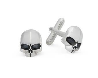 Skull Cufflinks - Silver 925 Handmade
