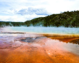 Yellowstone, Grand Prismatic Spring, Landscape Photography, Yellowstone National Park, Landscapes, Colorful, Nature, Digital Download, Photo