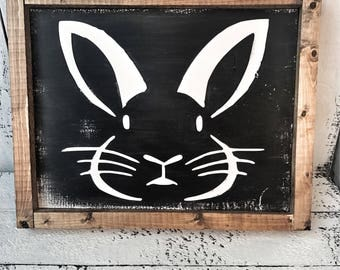 Easter Bunny Face Sign