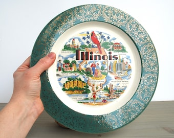 Illinois Collectible Souvenir Plate