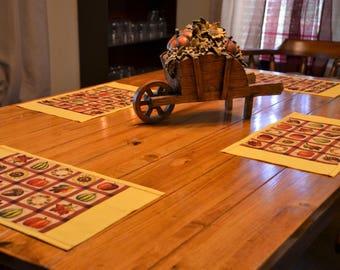 4pc Autumn Place Mat Set