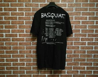 FREE SHIPPING!! Jean Michel Basquiat Vintage Tshirt//Embroidery//Vintage 90's//Size (M)