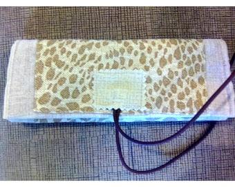 Handmade linen fabric tobacco case