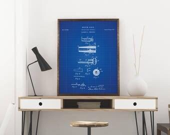 Duck Call patent print art - Vintage printable patent poster artwork drawing - Instant Digital download - Wall art decor - Blueprint