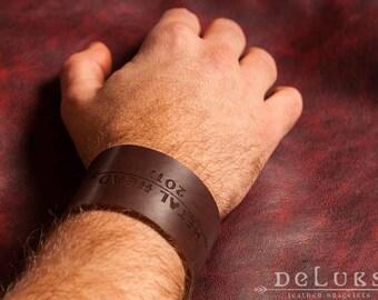 Men's Cuff Bracelet , Leather Bracelet  , metal 2017 , 100% cow leather  , deluxe leather bracelet , metalhead ,  cuff bracelet