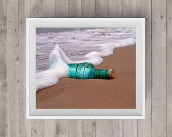 Message in a Bottle|Landscape Photography|Beach Photo|Photography Art|Digital Image|Downloadable Print|Wall Art|Home Decor