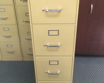 Vintage Industrial Steelcase Index Card Filing Cabinet set 49
